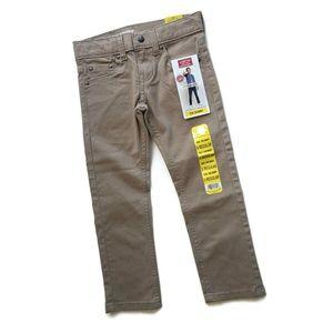 Levi's Tan Jeans Flex Fabric Boys 5 Reg S26 Skinny